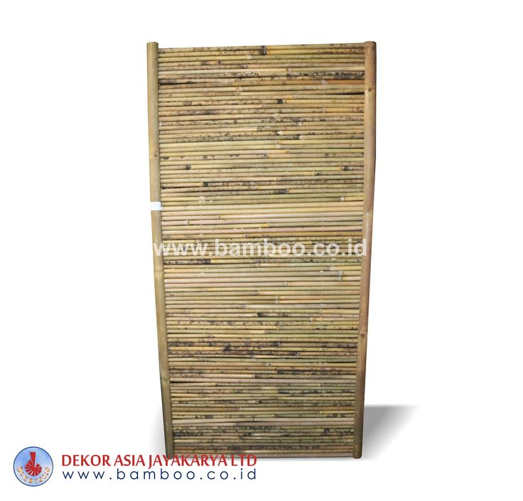 Natural bamboo fence frame horizontal
