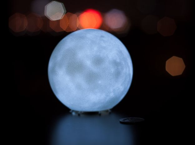 Perfect D printed Moon lamp by vfxguy