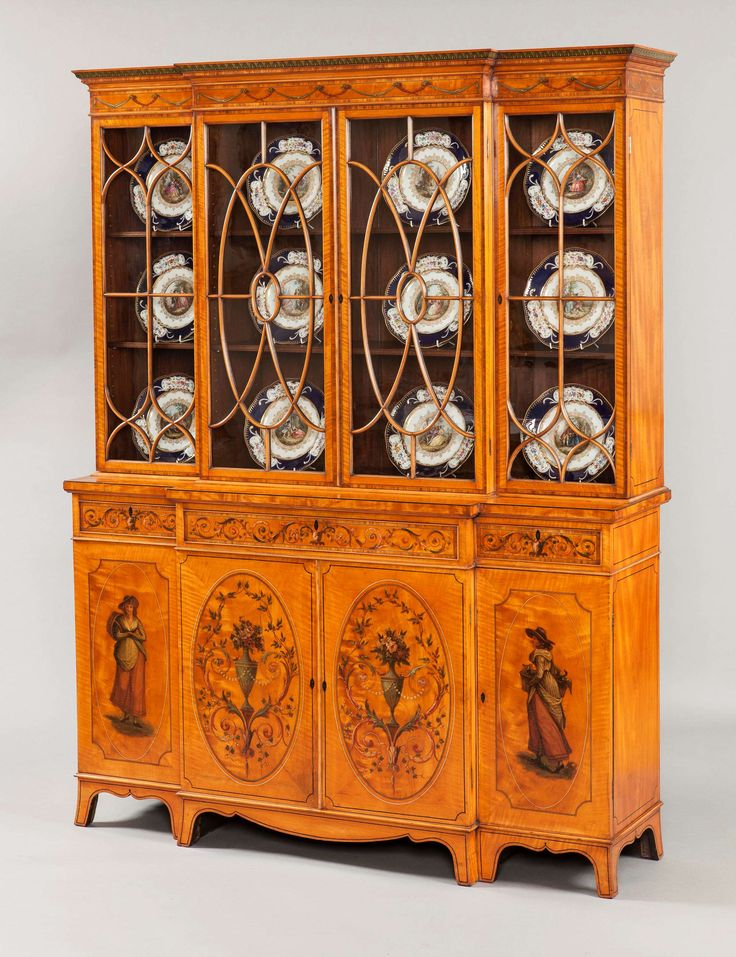 An Antique Satinwood Library Bookcase - 286 Best Furniture Images On Pinterest Antique Furniture