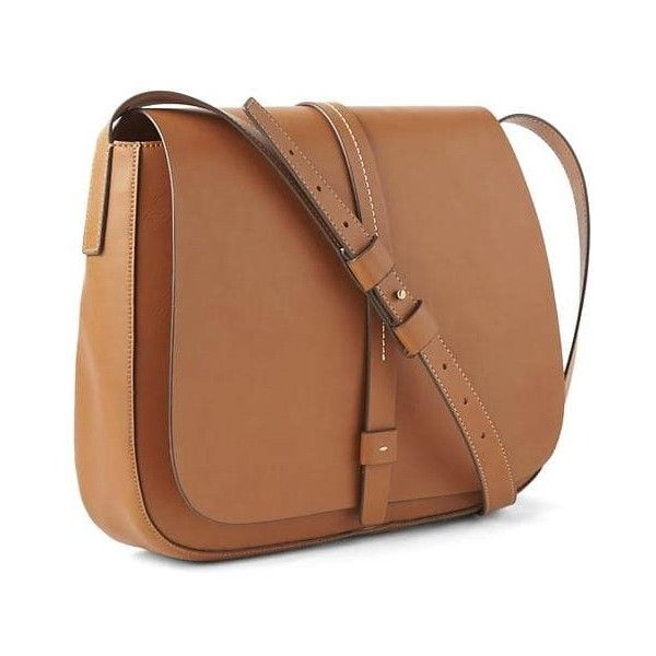 Gap Women Large Saddle Crossbody Bag ($50) ❤ liked on Polyvore featuring bags, handbags, shoulder bags, cognac, regular, beige purse, cognac handbags, crossbody shoulder bag, faux leather shoulder bag and gap purse