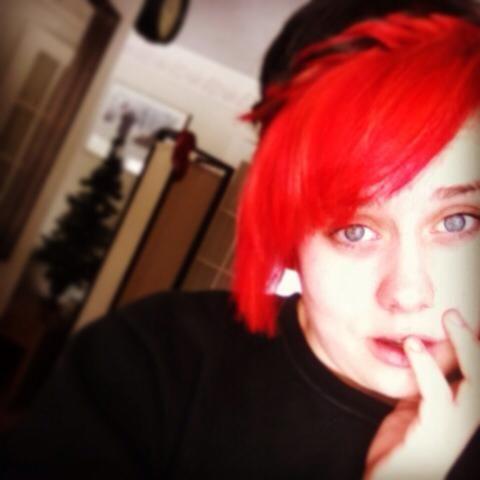 short/red/fringe