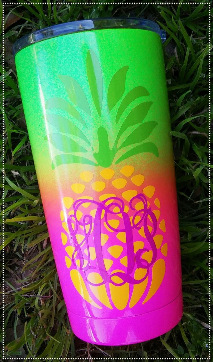 How To Monogram Glass With Paint