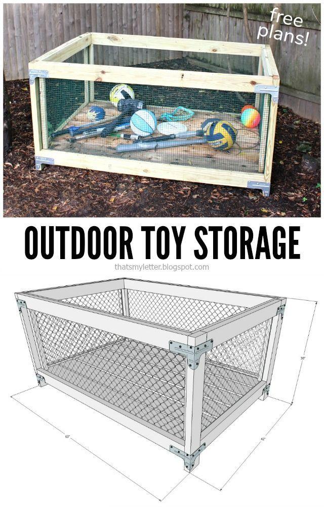 Outdoor Diy Projects Toy Storage For Outside Read More Spielzeugaufbewahrung Kinderschrank Aufbewahrung Garten