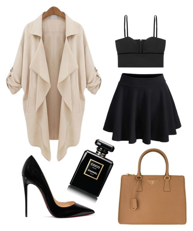 """""""Chic"""" by polyvorefashionxox ❤ liked on Polyvore featuring Alexander McQueen, Christian Louboutin, WithChic, Prada and Chanel"""