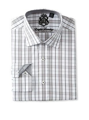 English Laundry Men's Plaid Dress Shirt