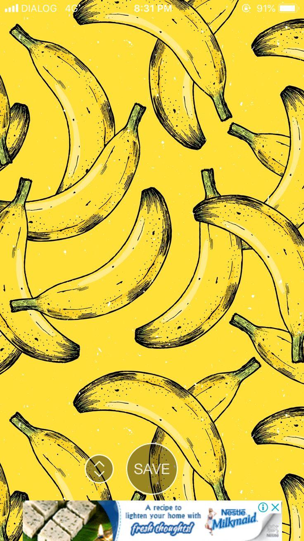 Pin by Kimaya Adams💕 on Wallpapersss Banana wallpaper