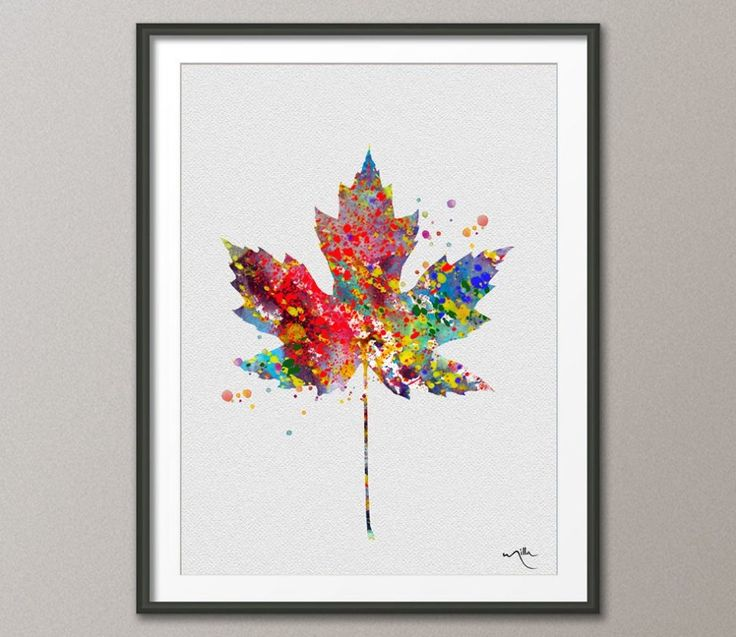 Maple Tree Leaf Watercolor illustrations Art Print by CocoMilla