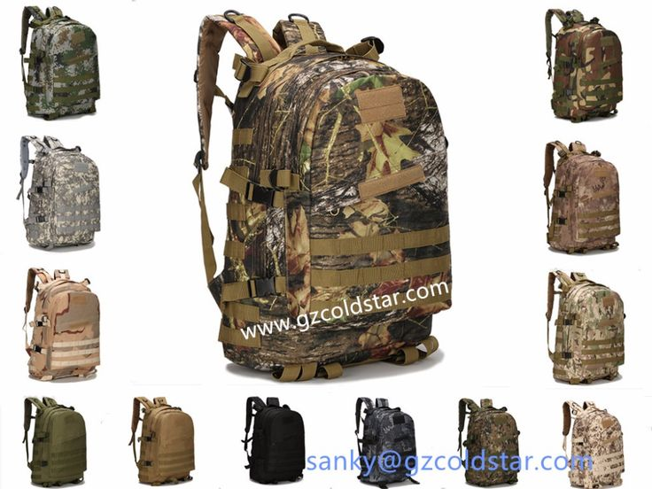 New Arrival 3D Tactical Large Capacity 40L Hiking Camping Bag Army Military Tactical Trekking Rucksack Backpack Camo