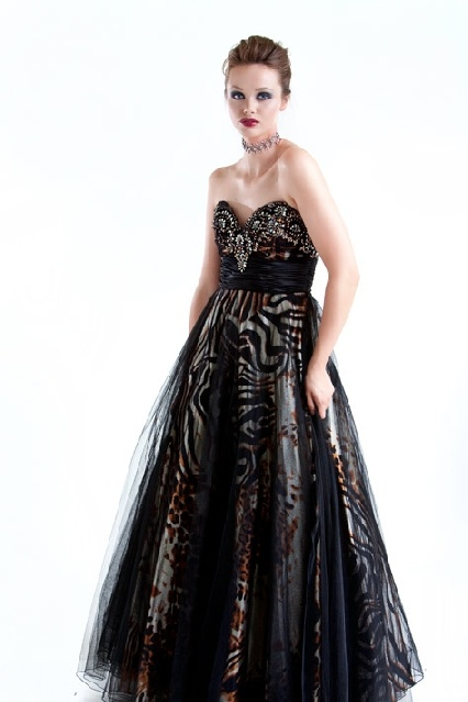 Leopard print evening dress australia