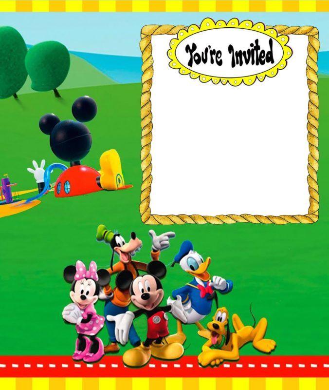 Custom Mickey Mouse Invitation Card Mickey Mouse Invitation Mickey Invitations Mickey Mouse Clubhouse Invitations