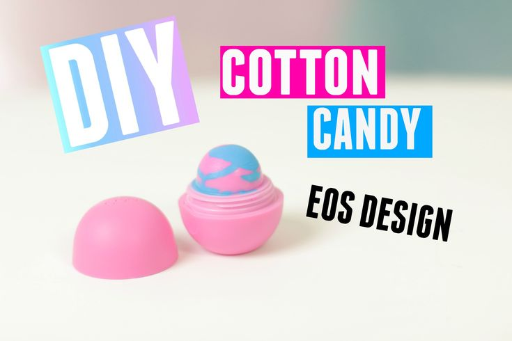 DIY Cotton Candy EOS Design - Made with EOS lip balm and Crayons