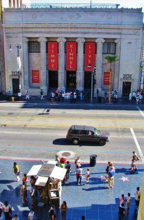 Paseo de la Fama desde el Teatro Kodak, en Hollywood, Los Angeles