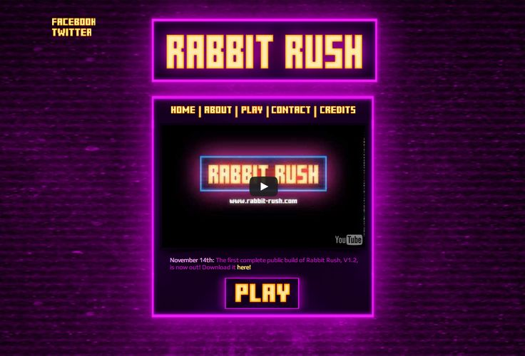 Rabbit Rush by RMIT University games student, Alexander Johnson.