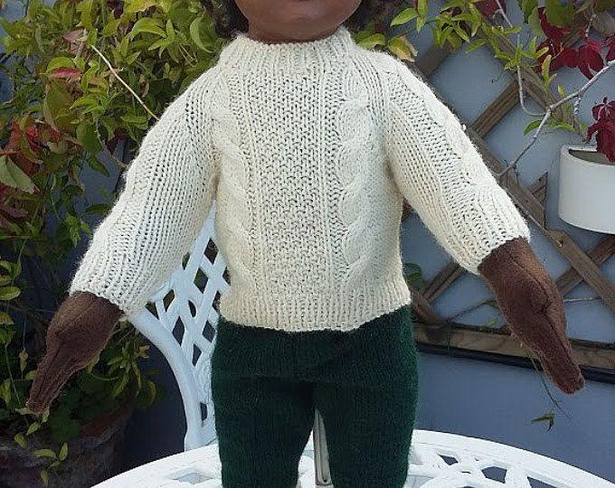 Aran jumper with soks for 18 inch dolls