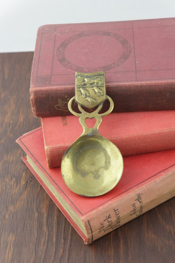 Antique Tea Scoop Souvenir from Canterbury by LoAndCoVintage