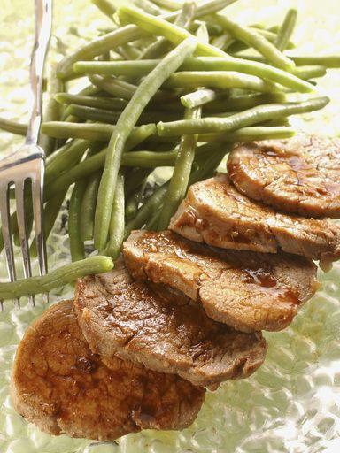 Émincés de porc miel soja / sauté de porc sauce soja, poivre, ail, sel, miel, filet mignon Facile excellente