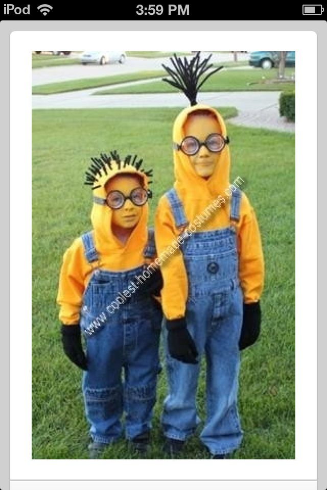 Minion costumes - this is what Isabella and her friends want to be.  Looks fairly easy.