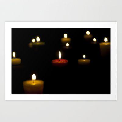 Dark candles Art Print by Oscar Tello Muñoz - $19.00