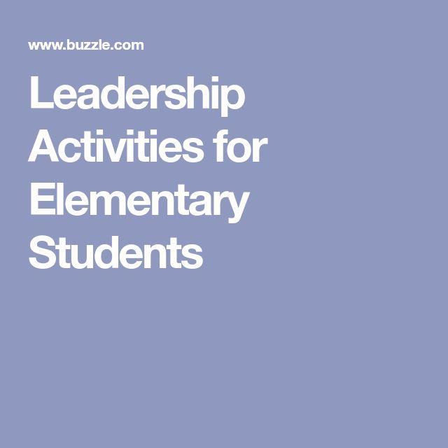 leadership tasks designed for students