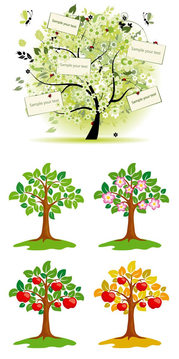 Tree Vector Material | Lazy Drawing