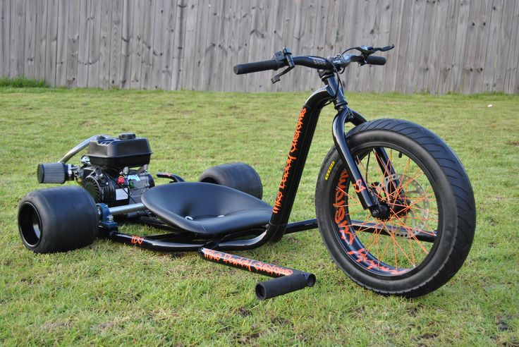 To order your R2 (24″) Gas Powered Drift Trike please call 910-939-4642. We will be happy to assist you with you custom build.