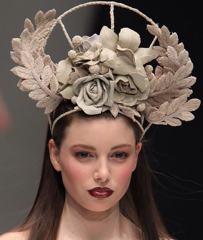 Aurelio Costarella SS12/13 collaboration headpiece by Reny Kestel Millinery