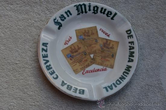 CERVEZA SAN MIGUEL-CENICERO DE PORCELANA