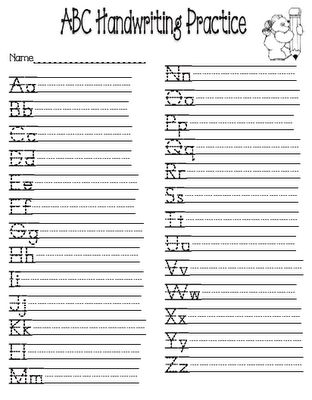 Printables Abc Writing Worksheets 1000 images about handwriting on pinterest without abchandwriting practice could be a good use for when you have covered all the letters initially and then can see which lette
