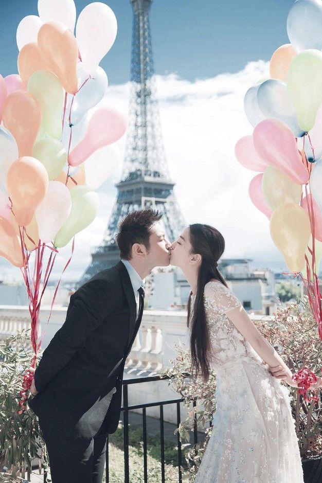 黃曉明 Angelababy 巴黎婚紗照 - Angelababy in Elie Saab Spring 2014 Haute Couture for her Pre-Wedding shoots in Paris