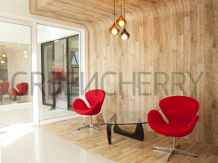 Executive Waiting Area by Greencherry Interiors  http://greencherrylife.com/