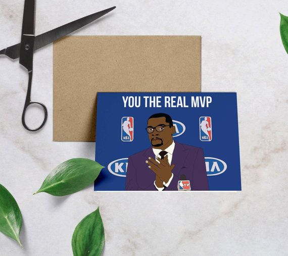 Kevin Durant You the Real MVP Dad Birthday Card by GREETYOSELF
