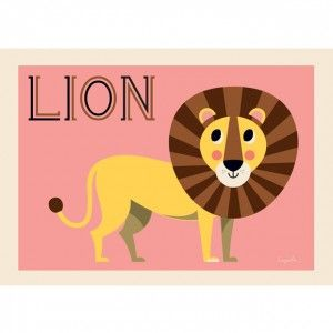 Ingela Arrhenius Friendly Lion Poster By Omm Design