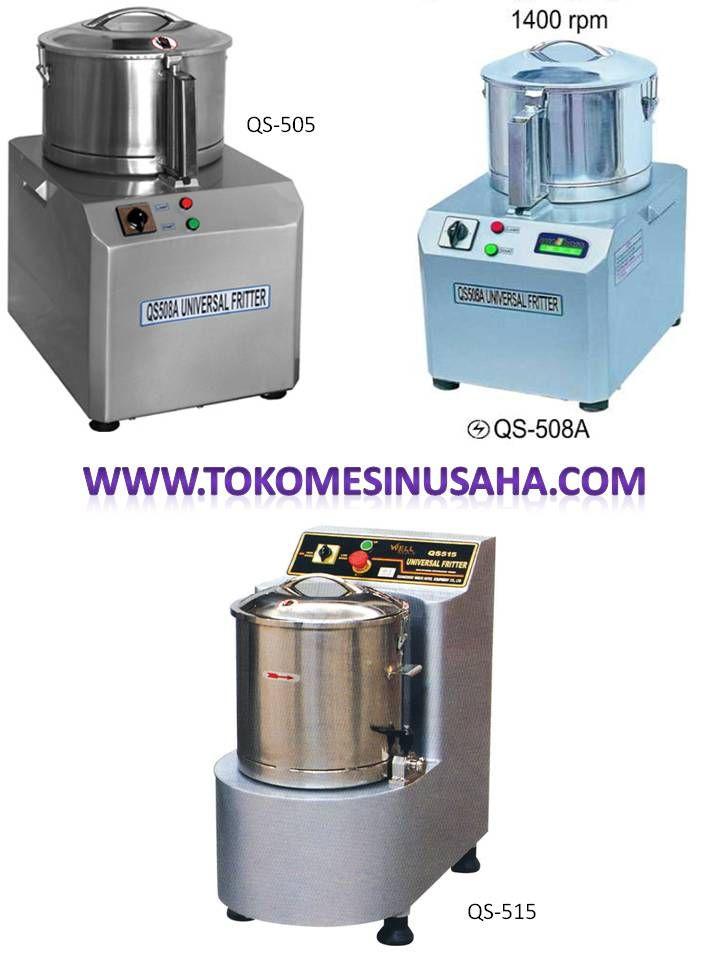 Universal Fritter atau yang biasa dikenal mesin pelumat bumbu adalah mesin yang digunakan untuk menghaluskan bumbu  – bumbu dapur. QS  – 505 A Dimensi                     : 30 x 38 x 53 cmMesin Kapasitas                   : 5 L Kapasitas Produksi     : 2 Kg/ 20 detik Power                         : 1500 W Daya                           : 220 V / 50 Hz Berat                          : 39 Kg