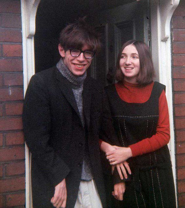 Stephen Hawking with his wife Jane Wilde. (1965)