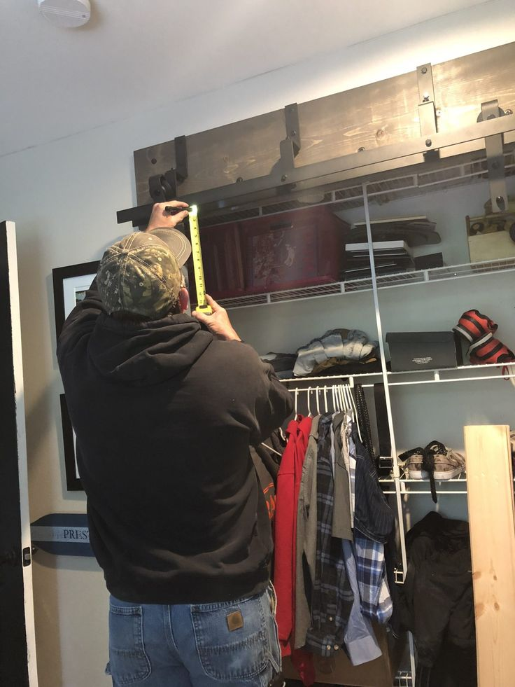Diy bypass closet barn doors for 70 each using tongue and