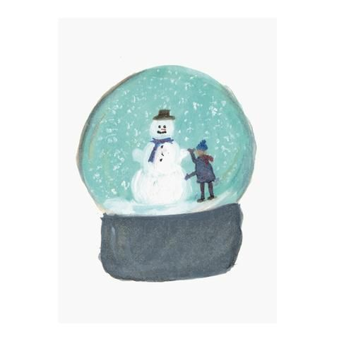 Snow Globe postcard by NUNUCO® #postcard #nunucodesign #christmas #holiday