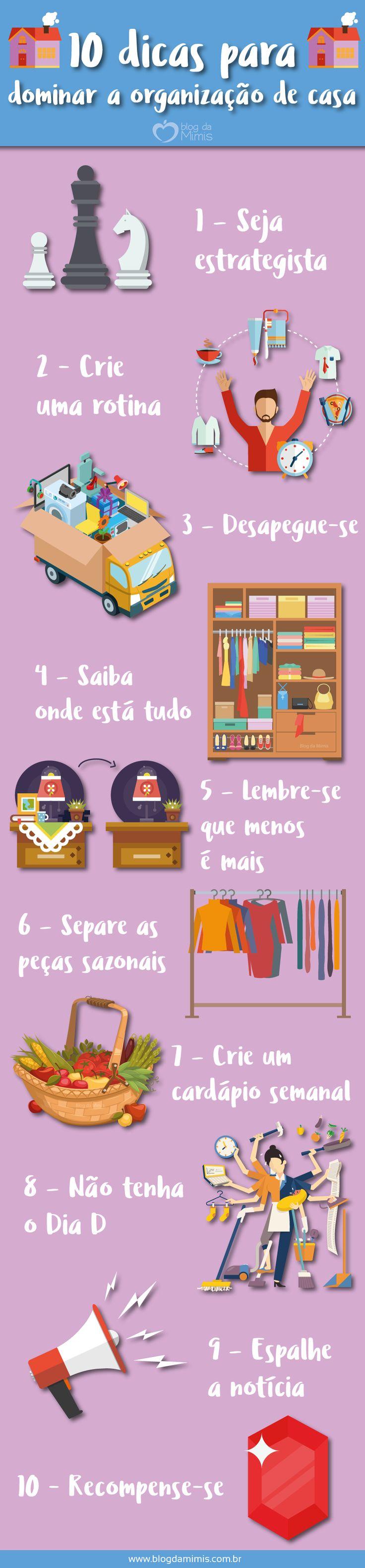 10 Dicas para dominar a organização de casa - Blog da Mimis #organização #casa #home #clean