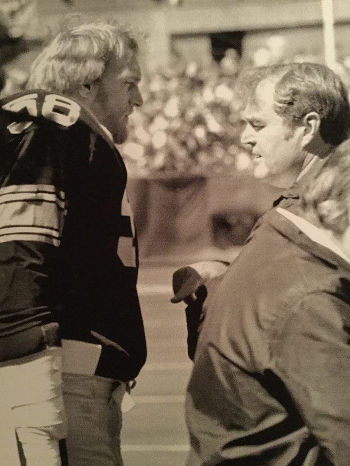 Jack Lambert and Coach Chuck Noll - Both HOF