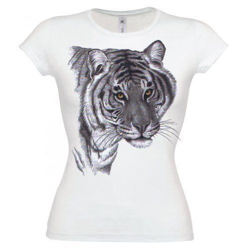 Ethno Designs Womens Wildlife T-Shirt Tiger slim fit Ethno Designs, http:/