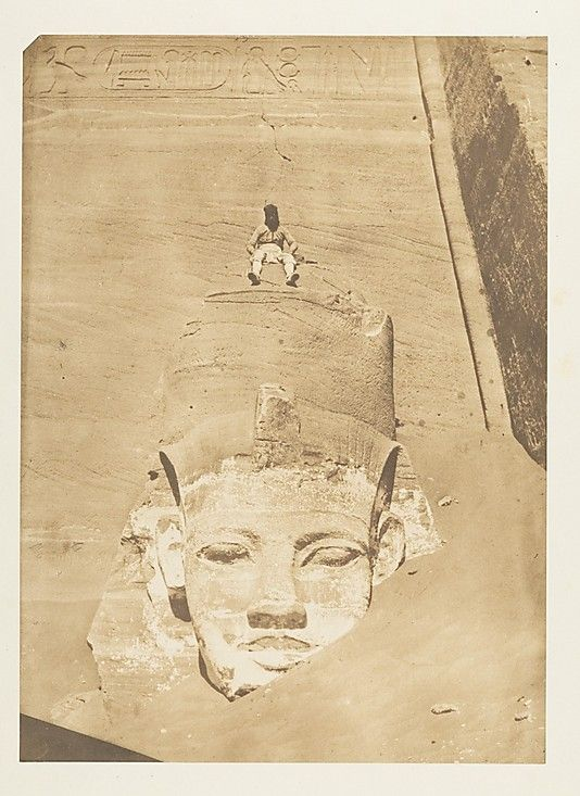 Westernmost Colossus of the Temple of Re, Abu Simbel  Maxime Du Camp  (French, 1822–1894)