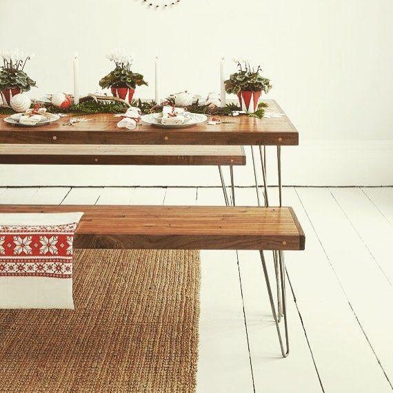 Les 25 meilleures id es de la cat gorie banc de table for Table salle a manger avec banc