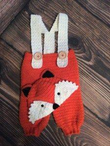Crochet fox hat and pants