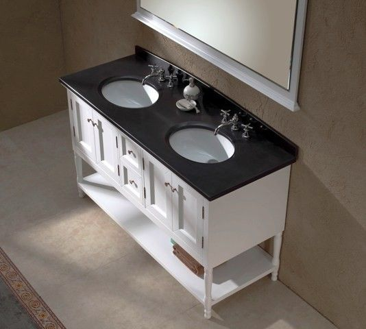 support black bathroom vanity with white marble top explanation Username