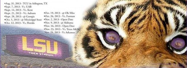 LSU Football Schedule 2013 Printable | 2013 LSU Football Schedule — Download It Here [PHOTO]
