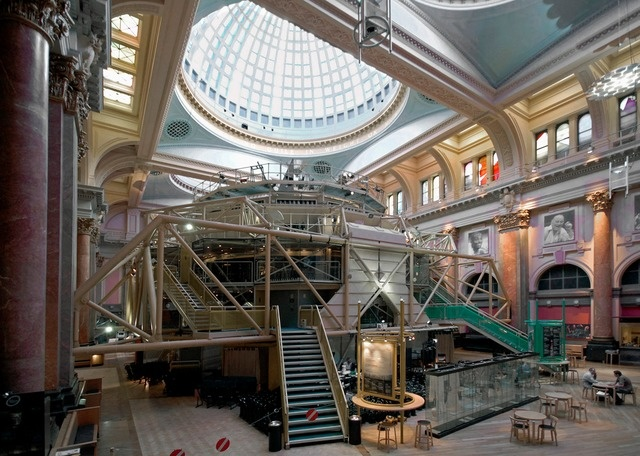 Royal Exchange Theatre Manchester Insertion of new building into existing building