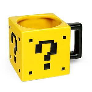 $ Drinking coffee out of this won't give you an extra life, but it will give you a nice caffeine buzz. $11.99