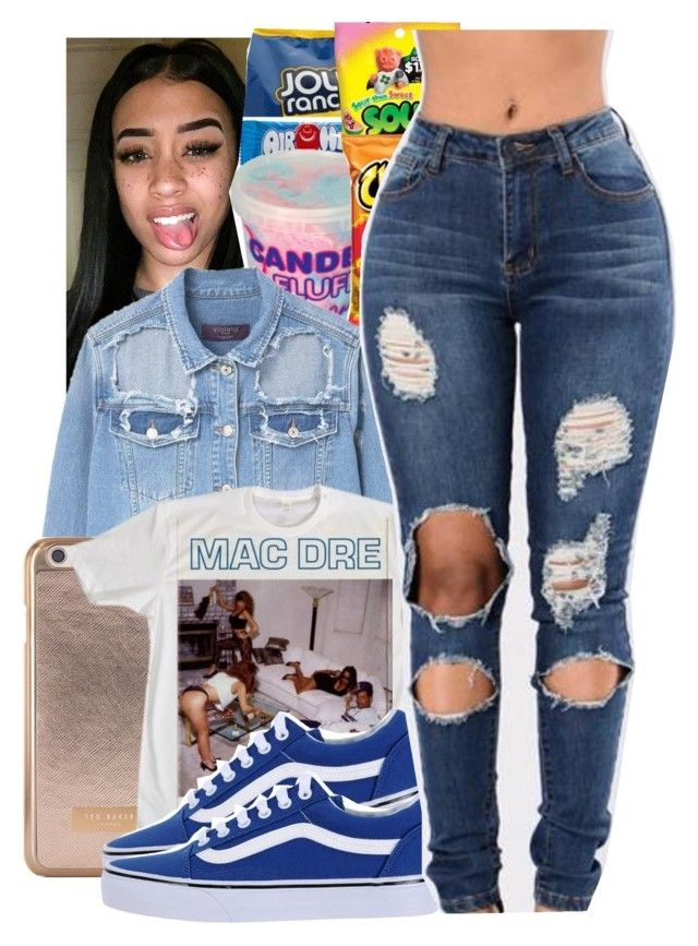 """""""I Get Around"""" by queen-vanessa ❤ liked on Polyvore featuring Violeta by Mango, Ted Baker and Vans"""