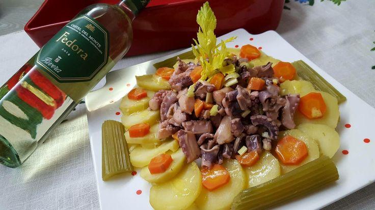 Polpo in festa con patate e olive