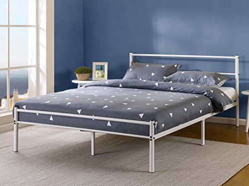 This 12 inch metal platform bed by Zinus is easy to assemble and provides  strong  sturdy support for your spring  memory foam  or latex mattress. Best 25  Metal platform bed ideas on Pinterest   Bed backboard