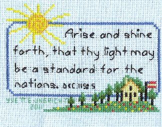 LDS Stitchery Patterns | ... and shine pattern this and more lds cross stitch patterns found here